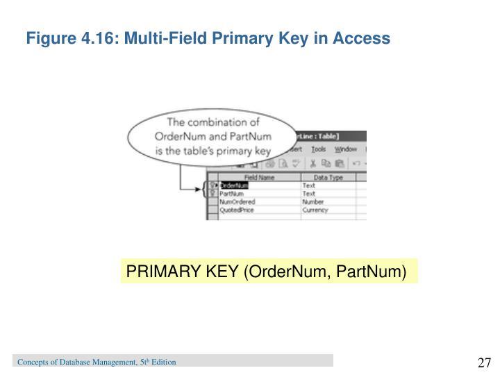 Figure 4.16: Multi-Field Primary Key in Access