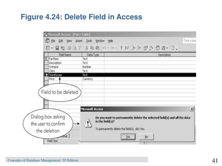 Figure 4.24: Delete Field in Access