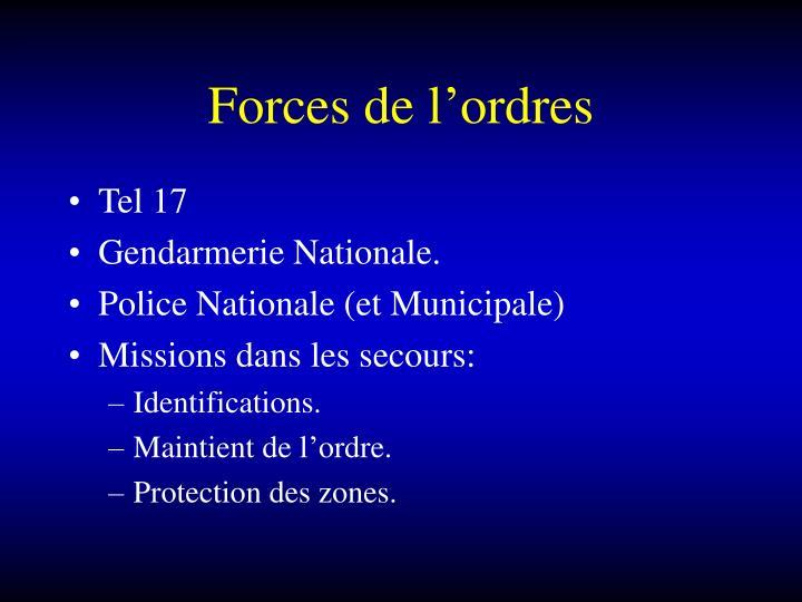 Forces de l'ordres