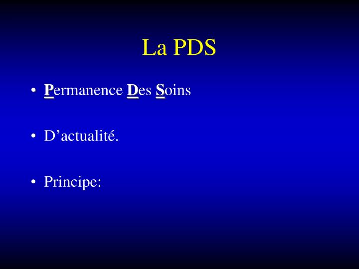 La PDS