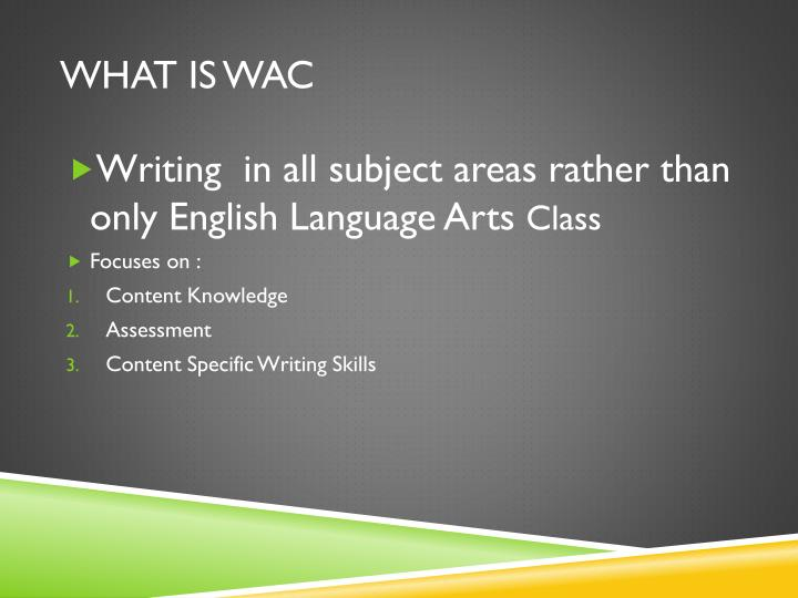 What is wac