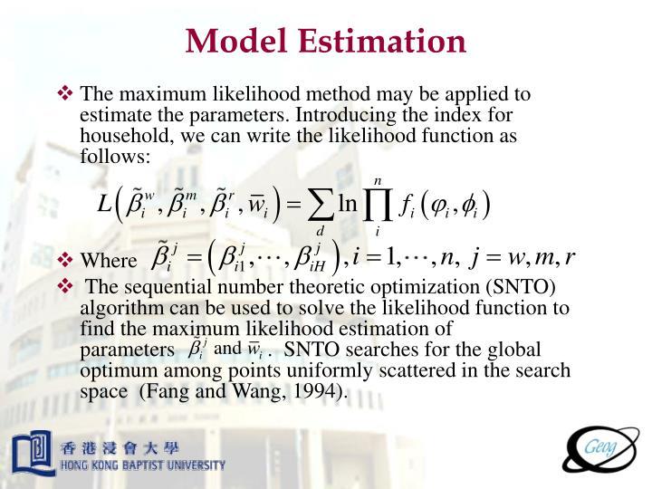 Model Estimation