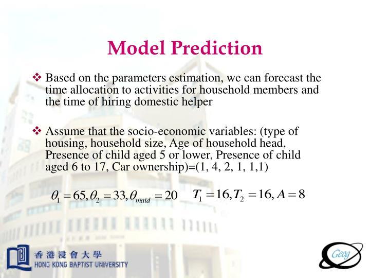 Model Prediction