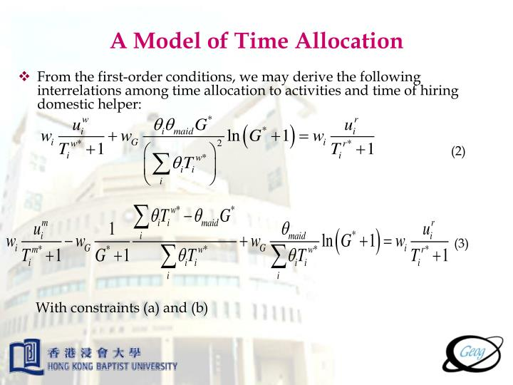 A Model of Time Allocation