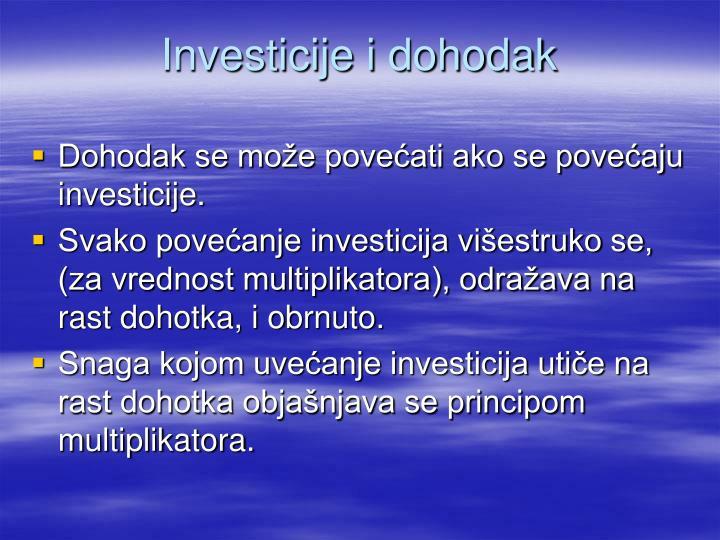 Investicije i dohodak