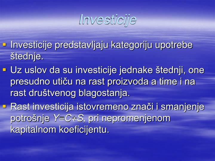 Investicije