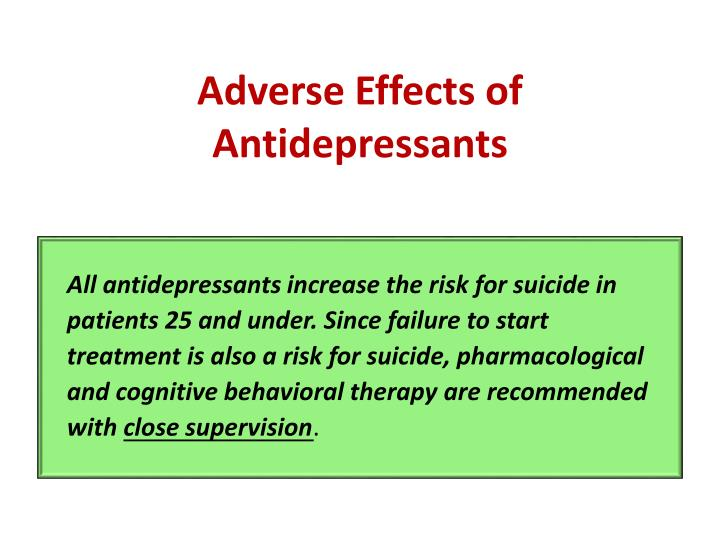 Adverse Effects of Antidepressants