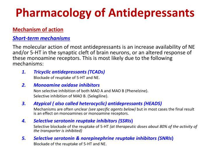 Pharmacology of Antidepressants