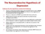 the neuroendocrine hypothesis of depression