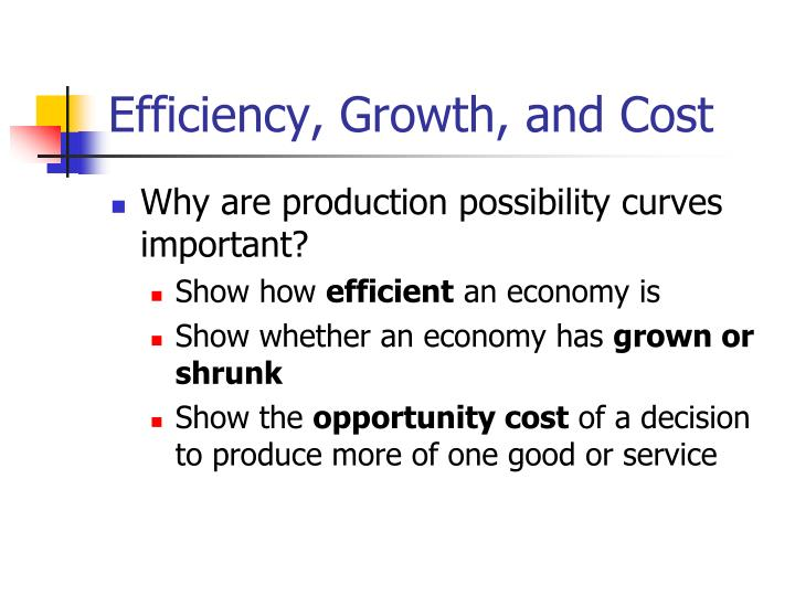 Efficiency, Growth, and Cost