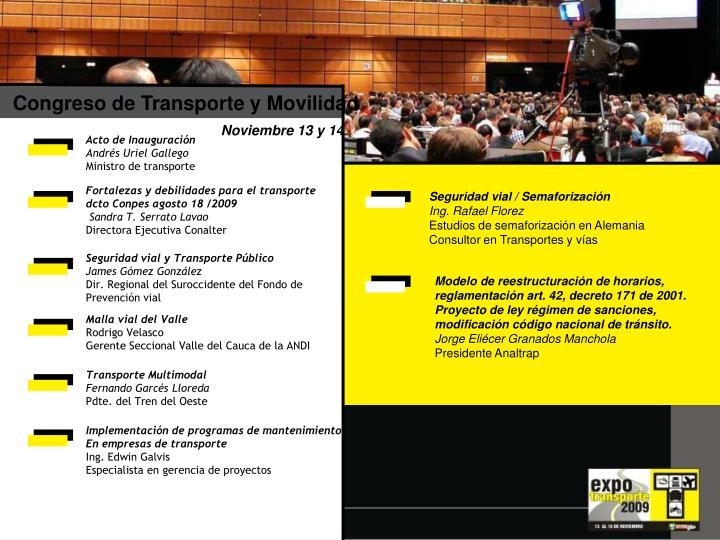 Congreso de Transporte y Movilidad
