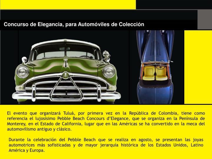 Concurso de Elegancia, para Automóviles de Colección
