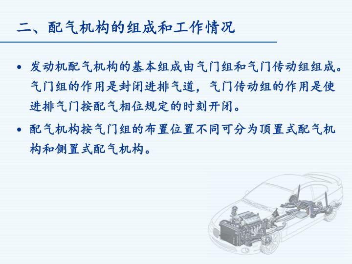 二、配气机构的组成和工作情况