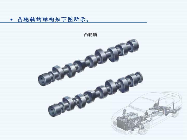 凸轮轴的结构如下图所示。