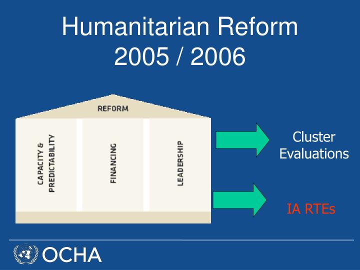 Humanitarian Reform 2005 / 2006