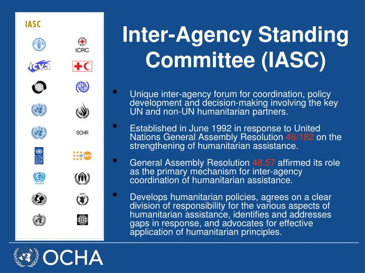 Inter-Agency Standing Committee (IASC)