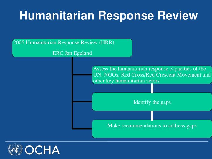 Humanitarian Response Review