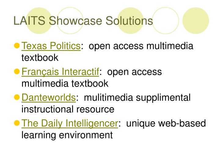LAITS Showcase Solutions