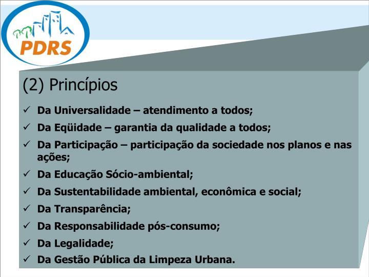(2) Princípios