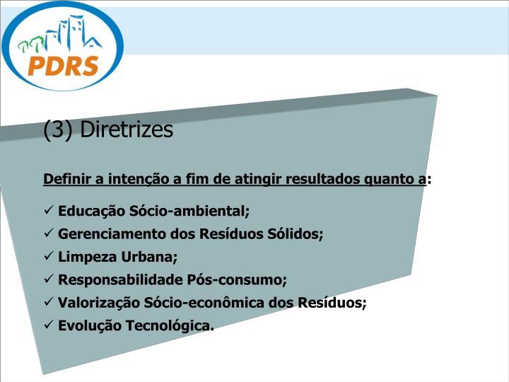 (3) Diretrizes