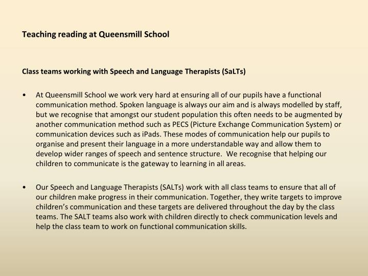 Teaching reading at queensmill school2