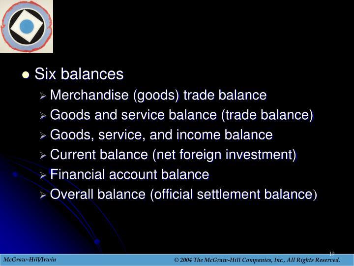 Six balances