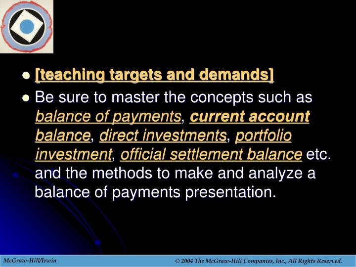 [teaching targets and demands]