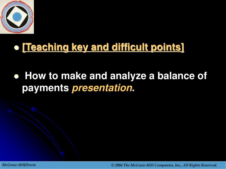 [Teaching key and difficult points]