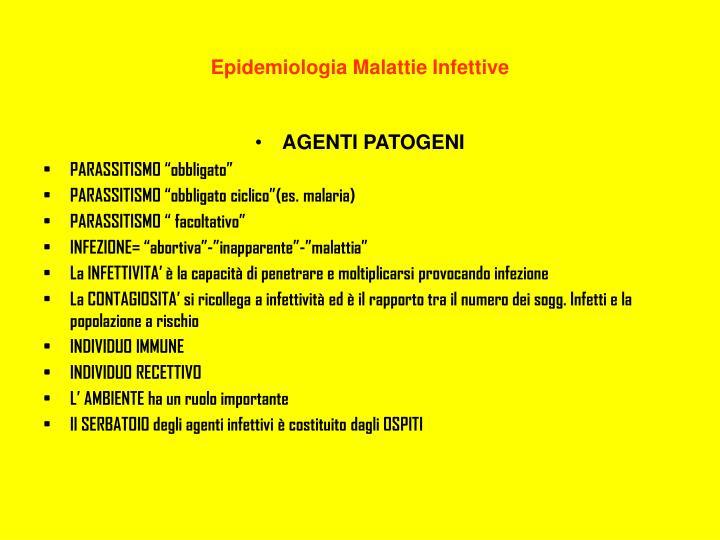 Epidemiologia Malattie Infettive
