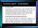 covering report presentation1