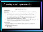 covering report presentation2