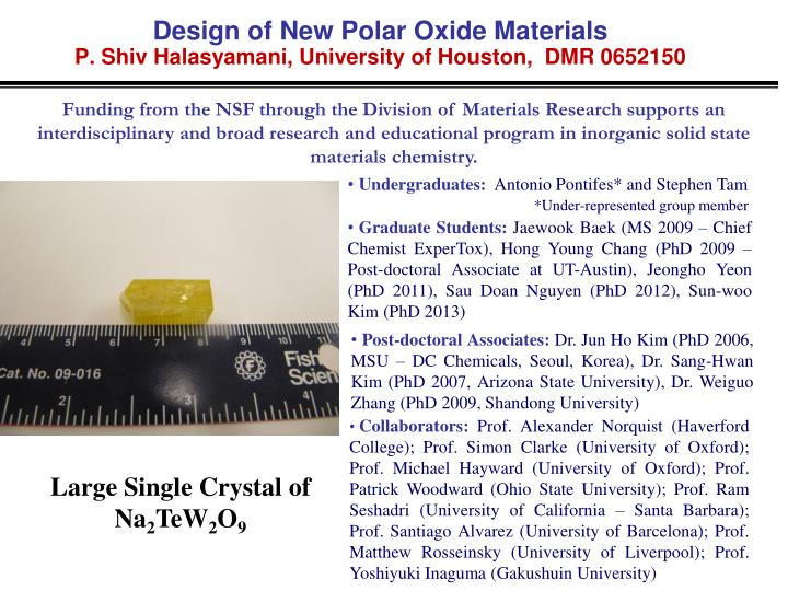 Design of New Polar Oxide Materials