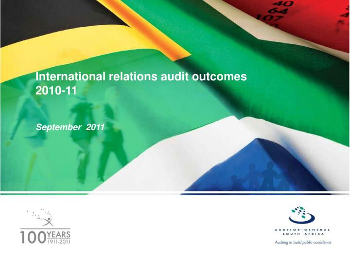 International relations audit outcomes