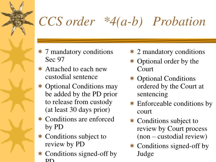 7 mandatory conditions Sec 97