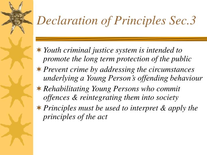 Declaration of Principles Sec.3