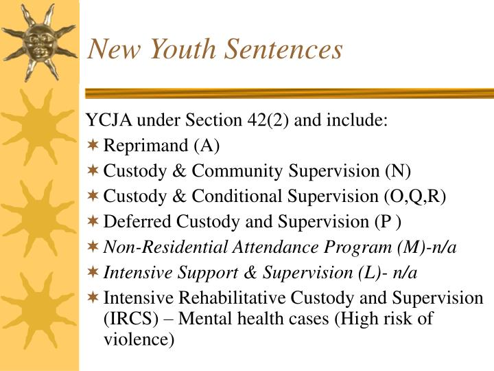 New Youth Sentences