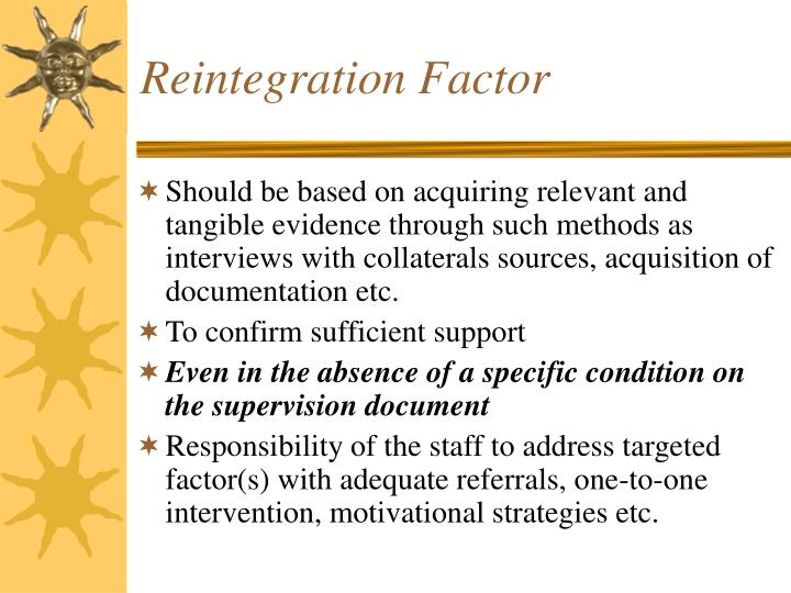 Reintegration Factor