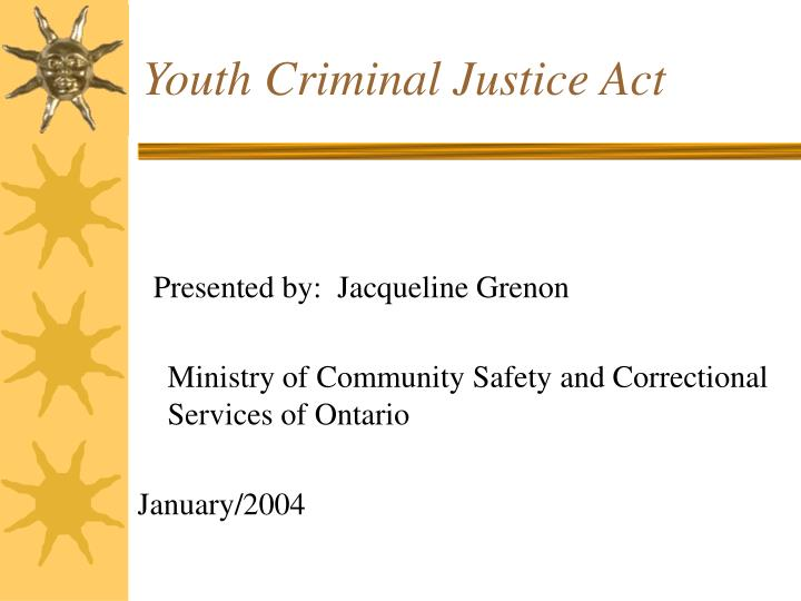 Write my youth criminal justice act essay