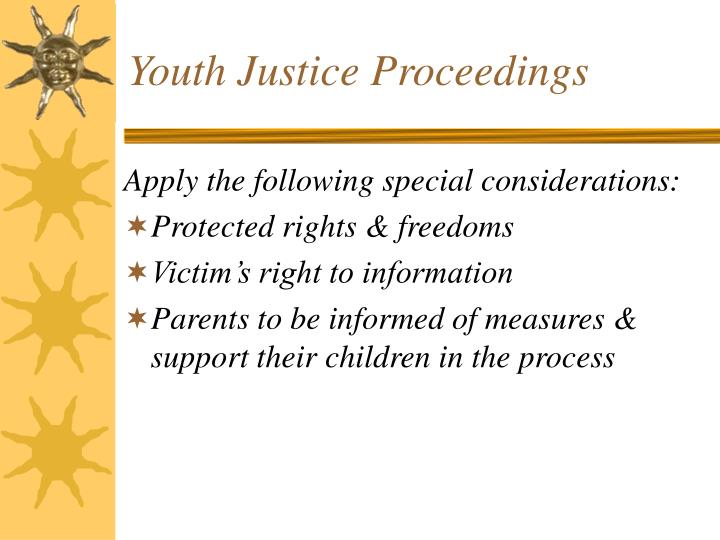 Youth Justice Proceedings