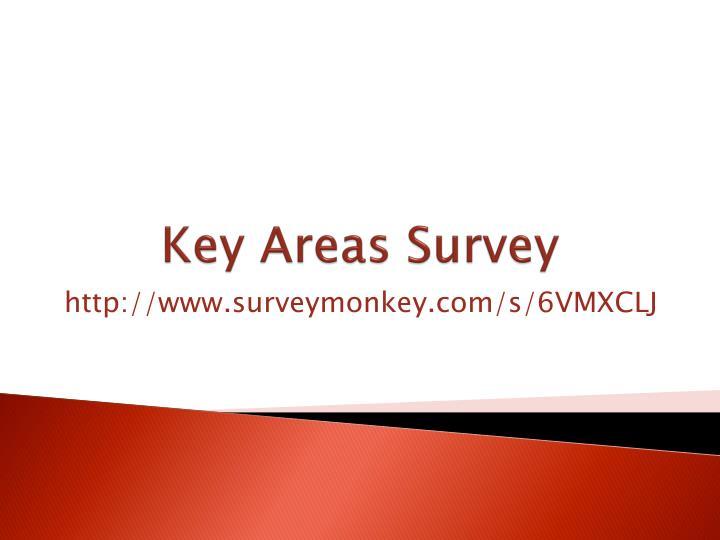 Key Areas Survey