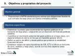objetivos y prop sitos del proyecto