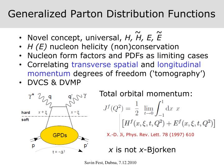 Generalized Parton Distribution Functions
