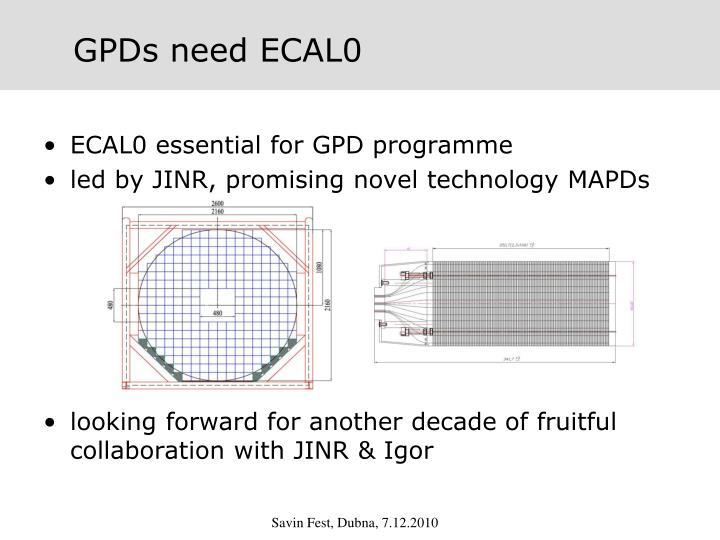 GPDs need ECAL0