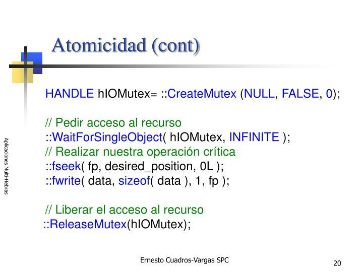 Atomicidad (cont)