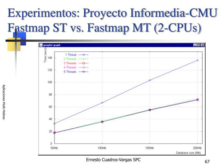 Experimentos: Proyecto Informedia-CMU
