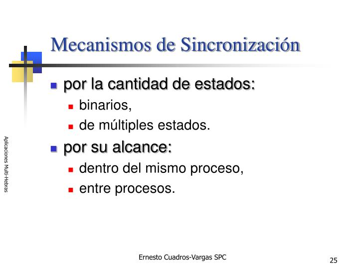 Mecanismos de Sincronización