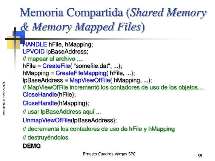 Memoria Compartida (