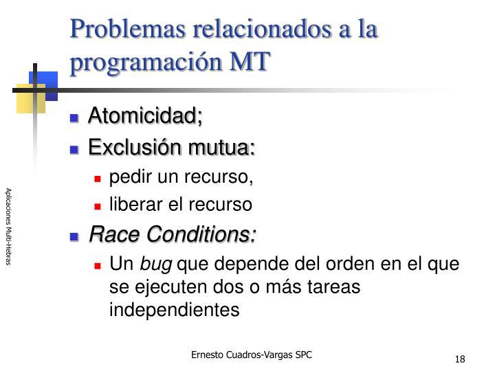Problemas relacionados a la programación MT