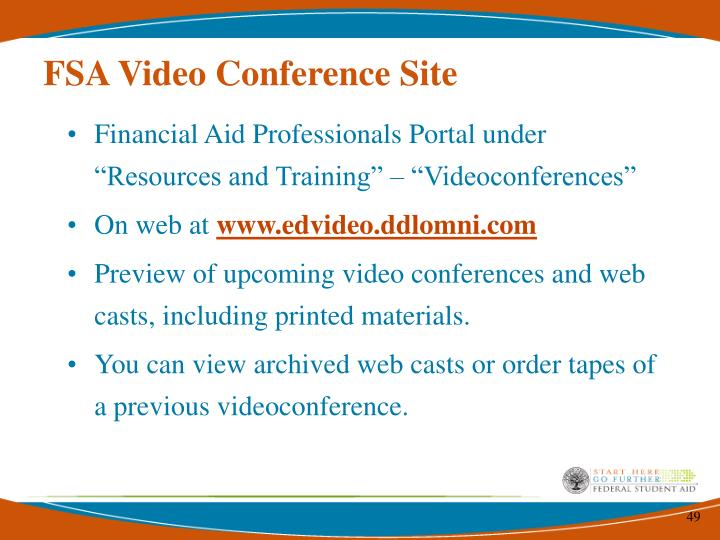 FSA Video Conference Site