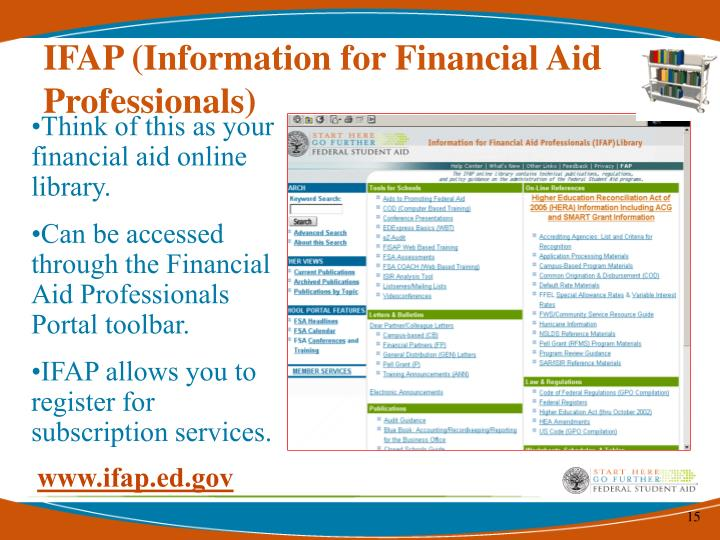 IFAP (Information for Financial Aid Professionals)